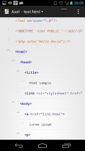 Axel - a HTML document