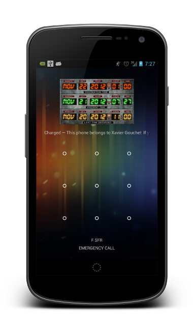 Time Circuits Widget - Lock Screen